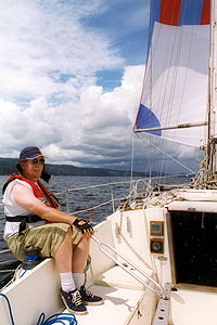 Man sailing in Johnstone Straigh